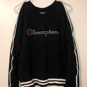 Champion 'open shoulder' crewneck sweatshirt
